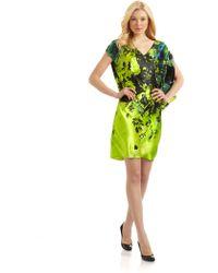 Josie Natori Nanami Asymmetrical Silk Dress - Lyst