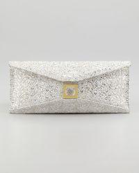 Kara Ross - Stretch Prunella Embroidered Glitter Clutch Bag - Lyst