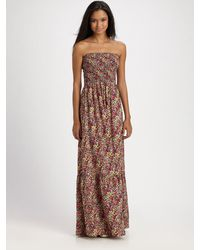 Parker Silk Floralprint Maxi Dress - Lyst