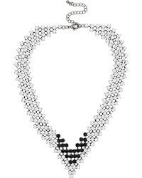 Topshop Monochrome Collar - Lyst