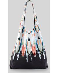 Twelfth Street Cynthia Vincent - Watercolor Border Shopper Bag - Lyst