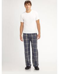 Burberry Tee Pajamas Pants Set - Lyst