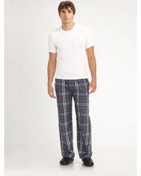 Burberry Tee Pajamas Pants Set white - Lyst