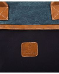 Calabrese Bags - Blue Lipari Twotone Medium Holdall - Lyst