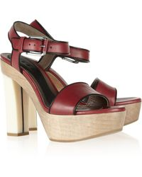 Marni Leather Sandals - Lyst