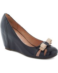 Jeffrey Campbell Cruising Altitude Wedge in Navy - Lyst