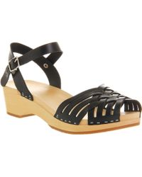 Swedish Hasbeens Braided Low Exclusive Black Nature - Lyst