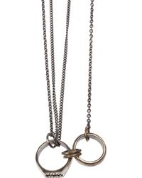 Tobias Wistisen - Silver Linked Ring Pendant Necklace - Lyst