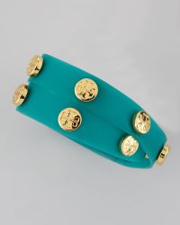 Tory Burch Logostudded Jelly Wrap Bracelet - Lyst