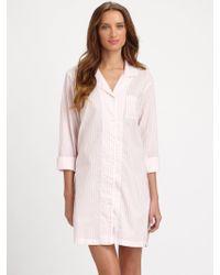 Cottonista - Striped Cotton Baptiste Sleepshirt - Lyst