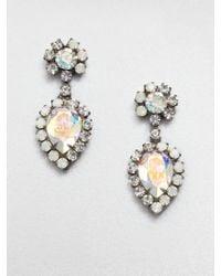 DANNIJO Swarovski Crystal Drop Earrings - Lyst