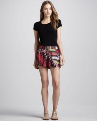 French Connection - Zigzag Print Relaxed Shorts - Lyst