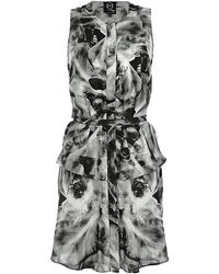 McQ by Alexander McQueen Iris Print Shirt Dress - Lyst