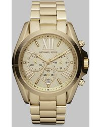 Michael Kors Bradshaw Goldtone Stainless Steel Chronograph Bracelet Watch - Lyst