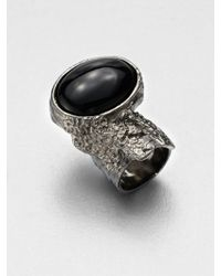 Saint Laurent Arty Ovale Ring/Gunmetal - Lyst