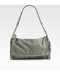 Stella McCartney Falabella Metallic Fold-Over Shoulder Bag - Lyst