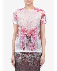 Prabal Gurung Printed Cotton Blend Jersey T Shirt - Lyst