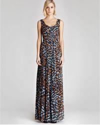 Reiss Maxi Dress Effie Printed - Lyst