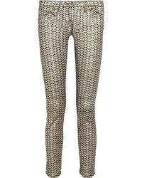 Sass & Bide - Superbase Metallic Fish Skin Skinny Jeans - Lyst