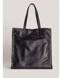 Valentino Studded Leather Tote Bag - Lyst