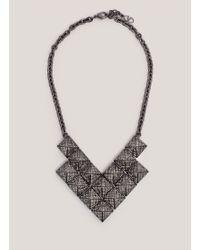 Valentino Rockstud Crystal-Pavé Necklace - Lyst
