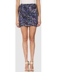 Aminaka Wilmont Mini Skirt purple - Lyst