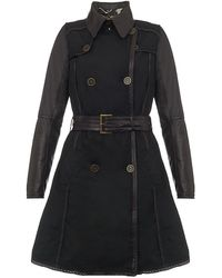 Barbour Zinmia Leather Trench Coat - Lyst