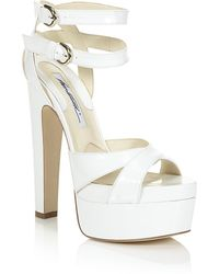 Brian Atwood Clea Patent Sandal - Lyst