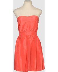 Cynthia Rowley Short Dress - Lyst
