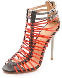 L.A.M.B. - Payton Strappy High Heel Sandals - Lyst