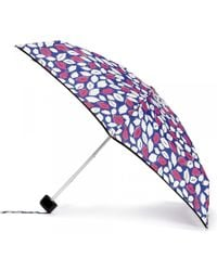 Lulu Guinness Cobalt Pop Art Lips Tiny Umbrella blue - Lyst