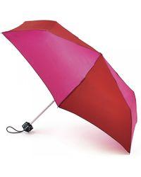 Lulu Guinness Superslim Dice Handle Umbrella red - Lyst