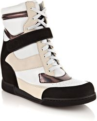 Marc By Marc Jacobs Kisha Leather Wedge Trainers black - Lyst