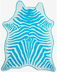 Maslin & Co. Zebra Towel in Turquoise - Lyst