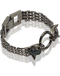 Mawi | Twin Panther Head Bracelet | Lyst