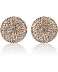 Michael Kors - Rose Gold Pavã Stud Earrings - Lyst