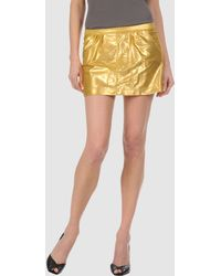 Tomas Maier Mini Skirt - Lyst