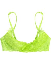 Agent Provocateur Margot Neon Lace Bra green - Lyst