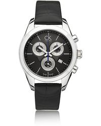 CK Calvin Klein - Strive Ladies Chronograph Watch - Lyst