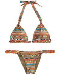 Emamó Aymara Ikatprint Bikini multicolor - Lyst