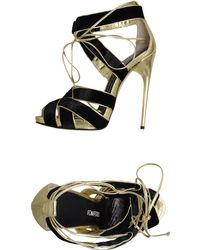 Tom Ford Platform Sandals gold - Lyst