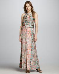 Parker Alison Printed Maxi Dress - Lyst