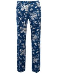 Lauren by Ralph Lauren - Printed Straight Cropped Jeans - Lyst