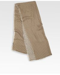 Gucci Calilure Gg Patterned Stole Scarf - Lyst
