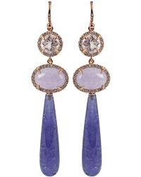 Irene Neuwirth Tiered Drop Earrings blue - Lyst