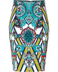 Etro Mixed Print Pencil Skirt multicolor - Lyst