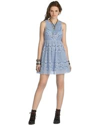 Free People Rocco Lace Mini Dress - Lyst