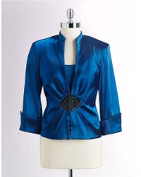 Xscape - Twopiece Beaded Jacket and Shell - Lyst