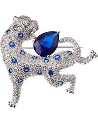 CZ by Kenneth Jay Lane - Cz Panther Brooch - Lyst