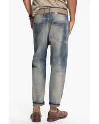 Diesel Narrot Cropped Slouchy Tapered Leg Jeans - Lyst